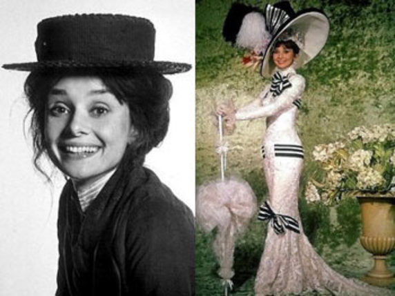Montaje del antes y el después de Eliza Doolittle en My fair lady