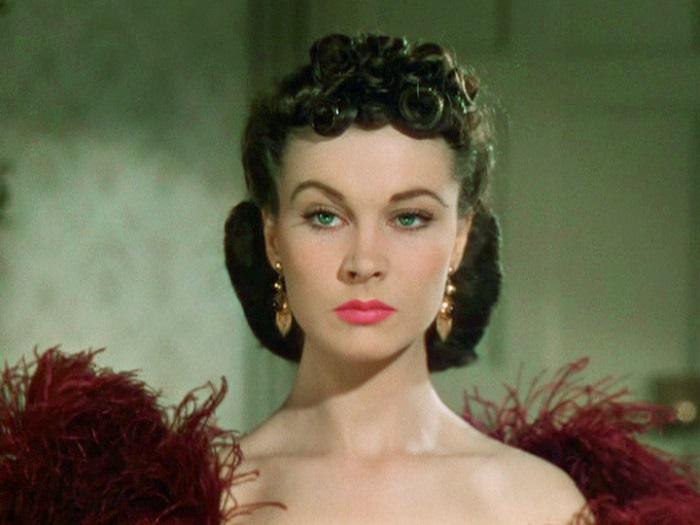Vivien Leigh caracterizada como Escarlata O´Hara en Lo que el viento se llevó