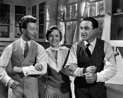Gene Kelly, Debbie Reynolds y Donald OConnor, protagonistas de Cantando bajo la lluvia