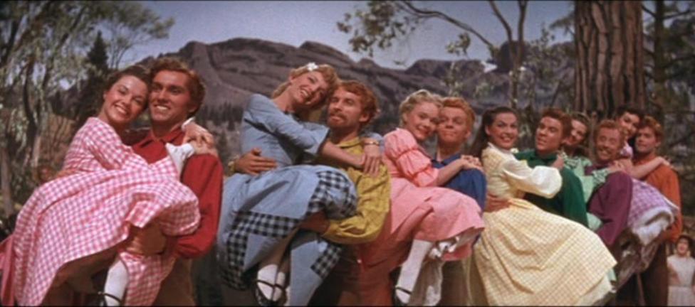 Protagonistas de Siete novias para siete hermanos, gran ejemplo del machismo en los musicales clásicos