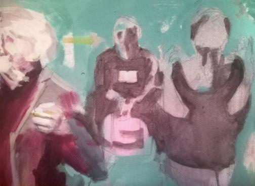 Boceto para el mural Las Conjuras