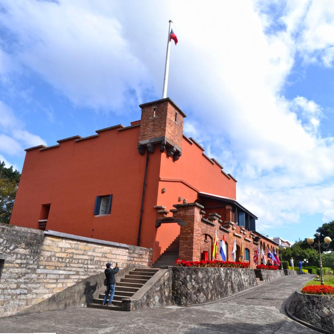 Fuerte de Santo Domingo, construido por los españoles en Tamsui (norte de la isla).