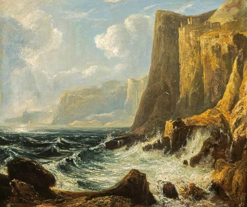 Thomson, John, 1778-1840; A Cliff Scene (Fast Castle)